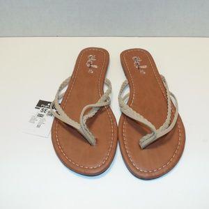 Tan/Brown Flat Sandals Sizes 6-9